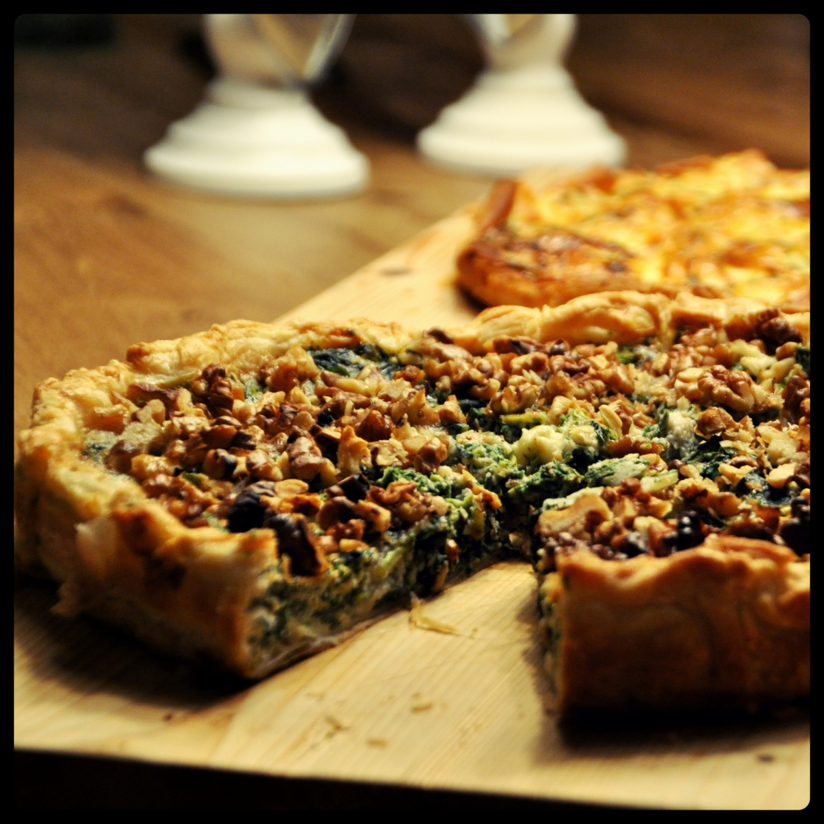 Geitenkaas spinazie quiche met geroosterde walnoten  u2013 DOLLY u0026#39;S DISH