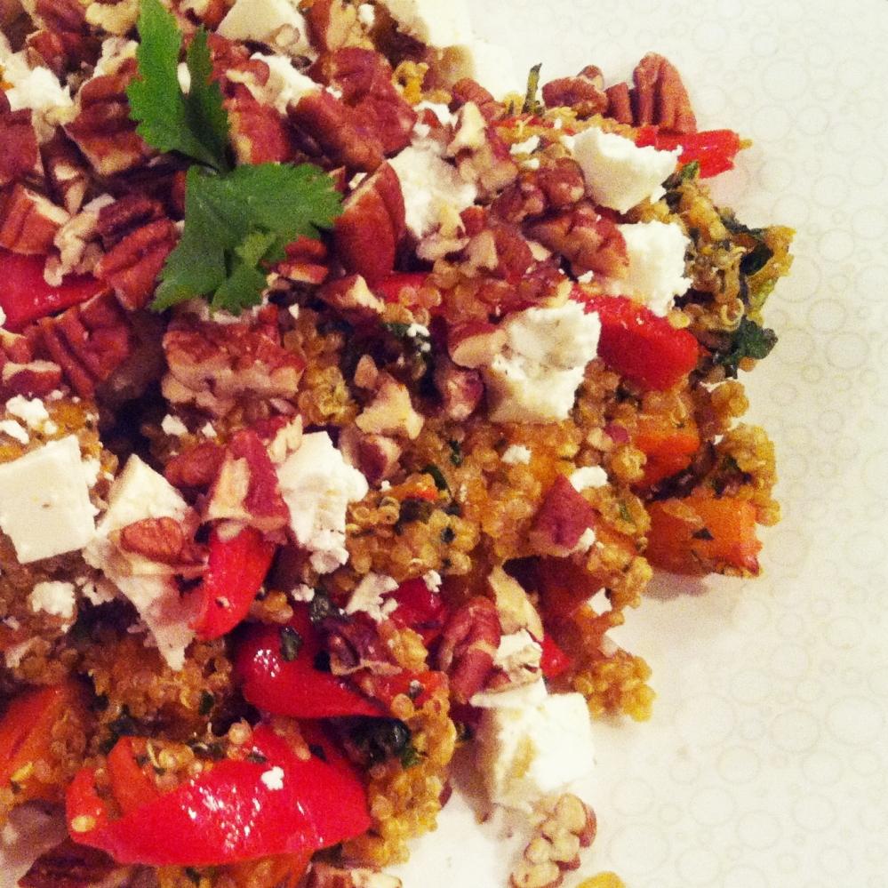 Simpel & gezond: Elke dag quinoa maaltje met feta en pecannootjes