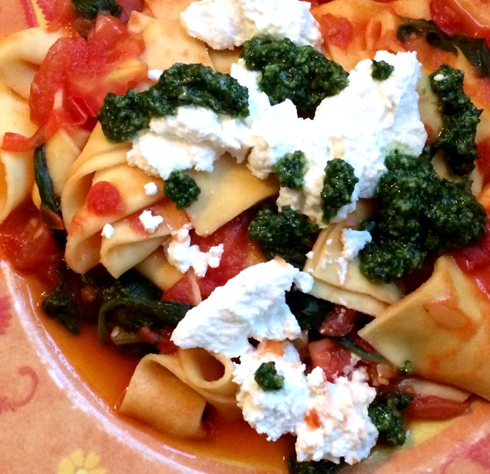 Lasagnette_ricotta_tomaat_spinazie_pesto